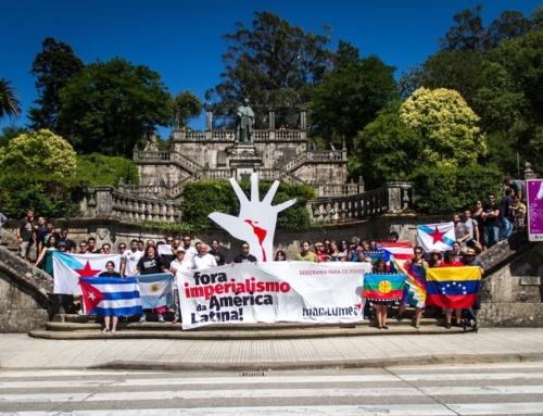 Celebramos acción simbólica de apoio aos povos da América Latina contra o imperialismo
