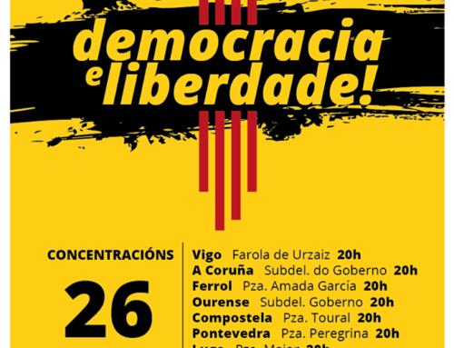 Contra a represión, avante a solidariedade coa Catalunya